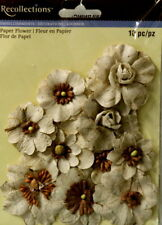 Recollections Tan Paper Flowers Embellishments