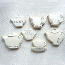 Teapot Stainless Steel Mold Cookie Cutter Tea Cup 2Pcs/set Cake Mould Fondant