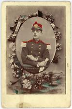 Souvenir de régiment, Givet Ardennes Vintage silevr print Tirage arge