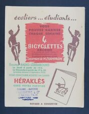 BUVARD HERAKLES radio Luxembourg bicyclette ARLIGUIE Castres blotter Löscher