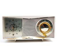 For Decoration Only Vintage Clock Tube Radio Motorola Mid Century For Repair