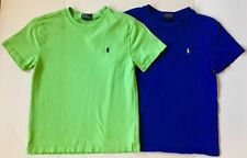 POLO Ralf Lauren Boys Set of TWO Shirts~Short Sleeve/Size M 10/12~Blue&Green EUC