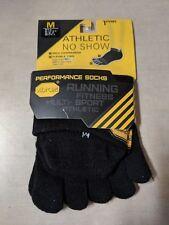 Vibram Five Fingers Athletic No Show Toe Unisex Underwear Sports Socks - Black