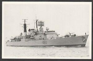 Postcard HMS Sheffield ship Royal Navy with Falkland Islands stamp 1983 postmark