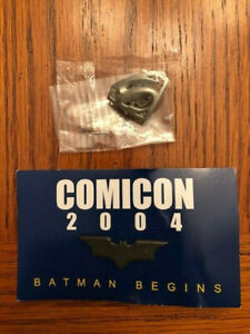 Batman Begins & Superman Returns Movie Promo Pin Lot Comic Con SDCC NEW RARE