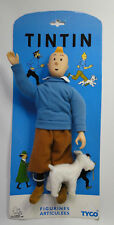 vintage retired Tintin with Snowy doll Tyco France Herge MOC