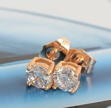 Cool 18K Yellow Gold Filled 6mm crystal Crystal Mens Stud Earrings,No Allergy
