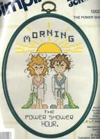 Vintage Simplicity Cross Stitch Kit Dear Johns Morning The Power Shower Hour