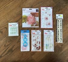 Fondant Or Clay Decorator Bundle~Cutter Sets~Rose, Owl, Carnation, Peony, Fence