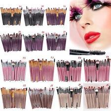 20 X Set trucco Fondazione Ombretto Eyeliner Lip Brush Spazzole piega dell'occhio Misto