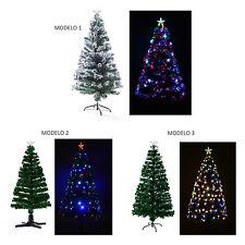 Arbol de Navidad Luces LED Arbol Artificial Nevado Hoja Verde Estrella 3 Modelos