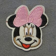 minnie mouse pink bow Iron on, Sew On, Embroidered Patch character