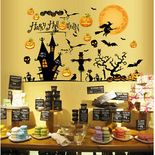 New Halloween Gift Pumpkin Mural Wallpaper Stickers Decals Decor Display Window