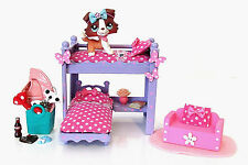 Littlest Pet Shop OOAK Custom Hand Made Furniture LPS or Dollhouse w/ Collie Dog