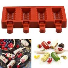 4 Cavities Ice Cream Mold DIY Kithchen Handmade Ice lolly Moulds