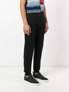 LANVIN 995$ Authentic New Black Cotton Blend Lounge Pants
