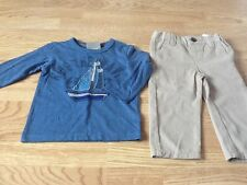 Brand New Size 12-18 Month Blue Boat Top & Beige Chino Pants