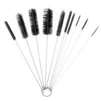 10Pcs Household Bottle Tube Cleaning Brush Set Home Kitchen Clean Tool Black