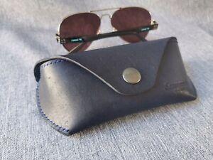 Eyeglass Case Sunglass Case Genuine Leather HANDMADE Case for glasses