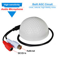 High Sensitive CCTV Security System Audio Monitoring Pickup Mini Mic Microphone