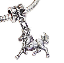 Galloping Horse Pony Animal European Style Dangle Bead for Silver Charm Bracelet