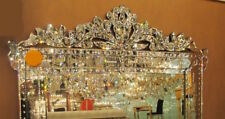 NEW STUNNING LARGE ORNATE BEVEL ETCH VENETIAN ENGRAVE BUFFET WALL MIRROR