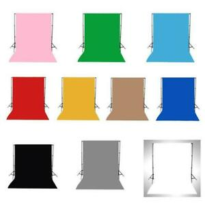 5x10FT Vinyl White Green Black Blue Yellow Pink Red Grey Brown Pure Color Pho...