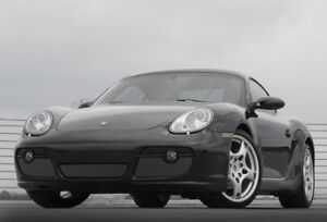 Porsche Cayman S black 3pc Lower Bumper Mesh Grille 2005 2006 2007 2008 Grill pk
