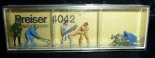 Preiser, Vintage, New Package, Item# 4042, Ho scale, Lumberjacks, 6x