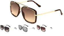 Wholesale 12 Pair Mens Fashion Squared Aviators Sunglasses