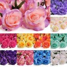 20pcs Artificial Rose Flower Heads Bulk Gradient Color Wedding 65mm FBHS5 BB
