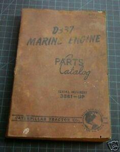 CAT Caterpillar D337 Marine Parts Manual Book catalog 3