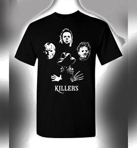 Killers T-Shirt Jason Freddy Michael Myers Leatherface Queen Bohemian Rhapsody