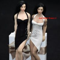 1/12 Female Long slip dress suspender skirt Toy 6inches Figure Acessories