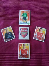Arsenal Topps card/Metlin stickers lot