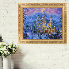 DIY 5D Diamond Ancient Castle Embroidery Painting Cross Stitch Home Decor Craft