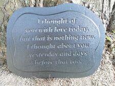 plastic memorial plaque 2  mold garden ornament stepping stone plaster concrete