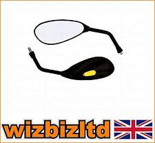 Par De 10mm Negro en forma de lágrima Moto Espejos Con incorporado indicadores Led mru006