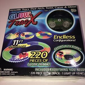 Glow Tracx Anker Play playset car 220 pieces of glow track new sealed