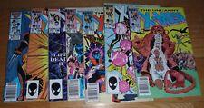 X-MEN # 187,188,192,193,198,199 207  VG'S