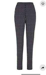 Long Tall Sally size 10 tall Navy Geo Print Jersey Trousers