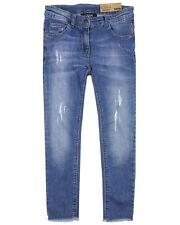 LOSAN Junior Girl's Distressed Denim Pants, Sizes 8-16