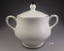 """WEDGWOOD SILVER ERMINE R4452 SUGAR BOWL WITH LID  3 3/8"""" - CONTOUR - PERFECT!"""