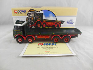 Corgi Classics 97940 ERF 8 Wheel Flatbed Lorry Eddie Stobart 1:50 Scale