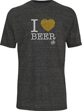 Von Zipper I Heart Beer T-Shirt-Grey Heather-2XL  - Mens Tee