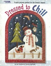New Dressed To Chill 9 Quilt Projects Snowmen Leisure Arts Sewing Pattern Book