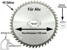 Sägeblatt Kreissägeblatt ALU Kreissäge 150 x 20 mm x 40 Z Kapp Tauch Säge Blatt