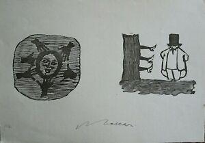 Mino Maccari linoleumgrafia Figure 28,5x20 firmata numerata