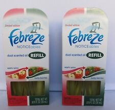 2 x Febreze Noticeable Dual Scented Oil Refill Limited Edition Christmas Holiday