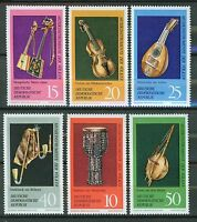 ALEMANIA/RDA EAST GERMANY 1971 MNH SC.1330/35 Music instruments